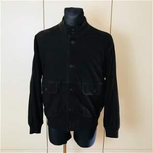 Vintage Men's Dark Brown Suede Leather Jacket