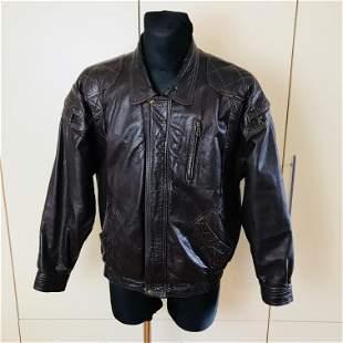 Vintage Men's Brown Leather Jacket