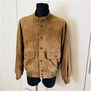 Vintage Men's Suede Leather Jacket Size US 40 EUR 50
