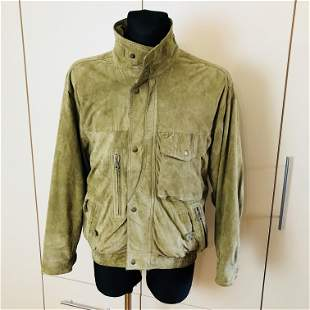 Vintage Men's Suede Leather Jacket Size US 38 EUR 48