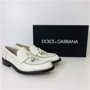 Men's Dolce & Gabbana White Loafers US 10
