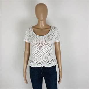 Vintage Women's Crochet Blouse Shirt