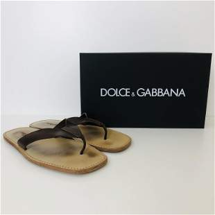 Men's Dolce & Gabbana Leather Slippers US 11
