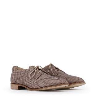 New Women's Arnaldo Toscani Laced Leather Shoes US 7.5