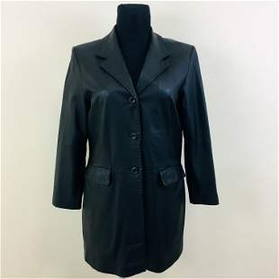 Women's Giovanna Designer Real Leather Long Jacket
