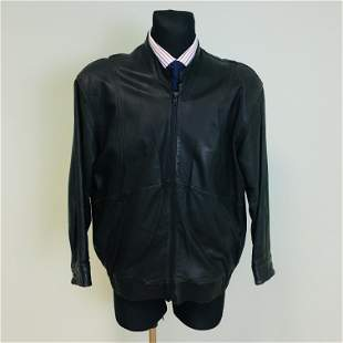 Vintage Men's Mc Neal Bomber Leather Jacket