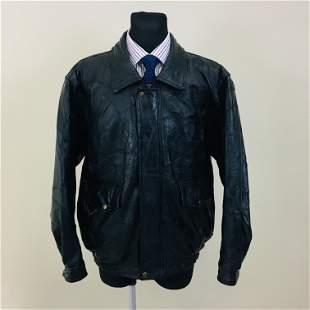 Vintage Men's Real Leather Bomber Jacket