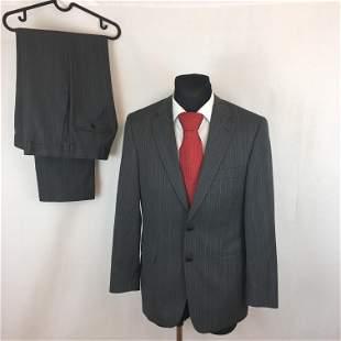 Men's NEW Van Gils 100% Virgin Wool Grey Suit Costume