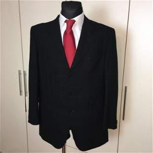Men's TOMBOLINI 100% Wool Navy Blue Jacket Blazer