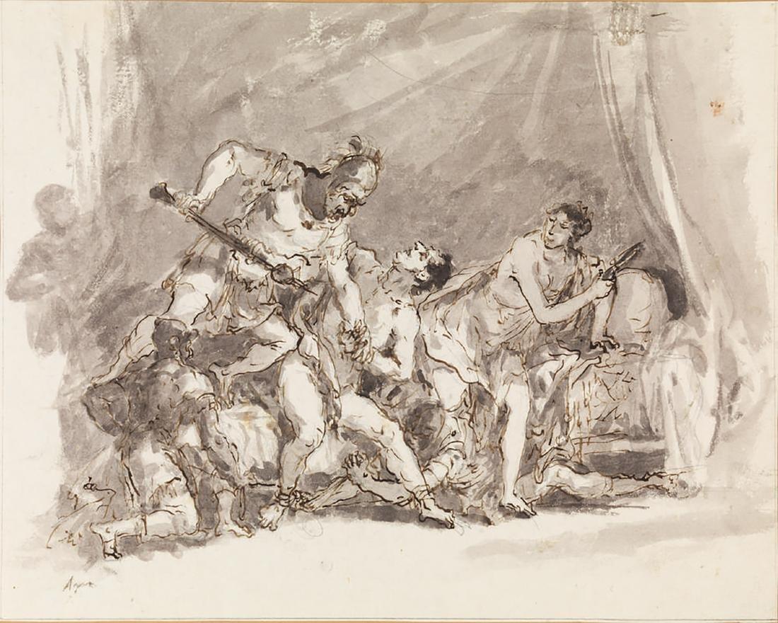 Scuola italiana del XVIII secolo  SANSONE SOPRAFFATTO