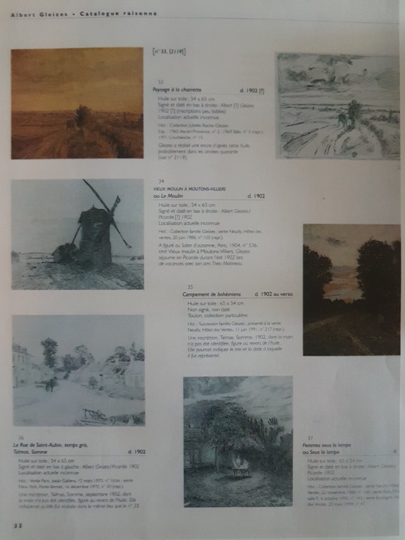 Albert GLEIZES (French 1881-1953)oil on canvas, 1902 - 3