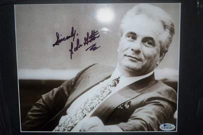 John Gotti Autograph Photo. John Gotti Sign Mob Photo