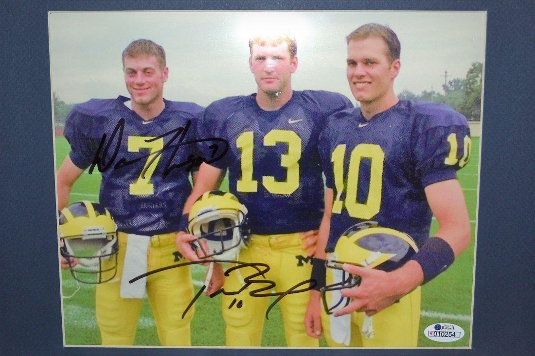 Tom Brady Autograph Michigan Photo. Tom Brady Superbowl