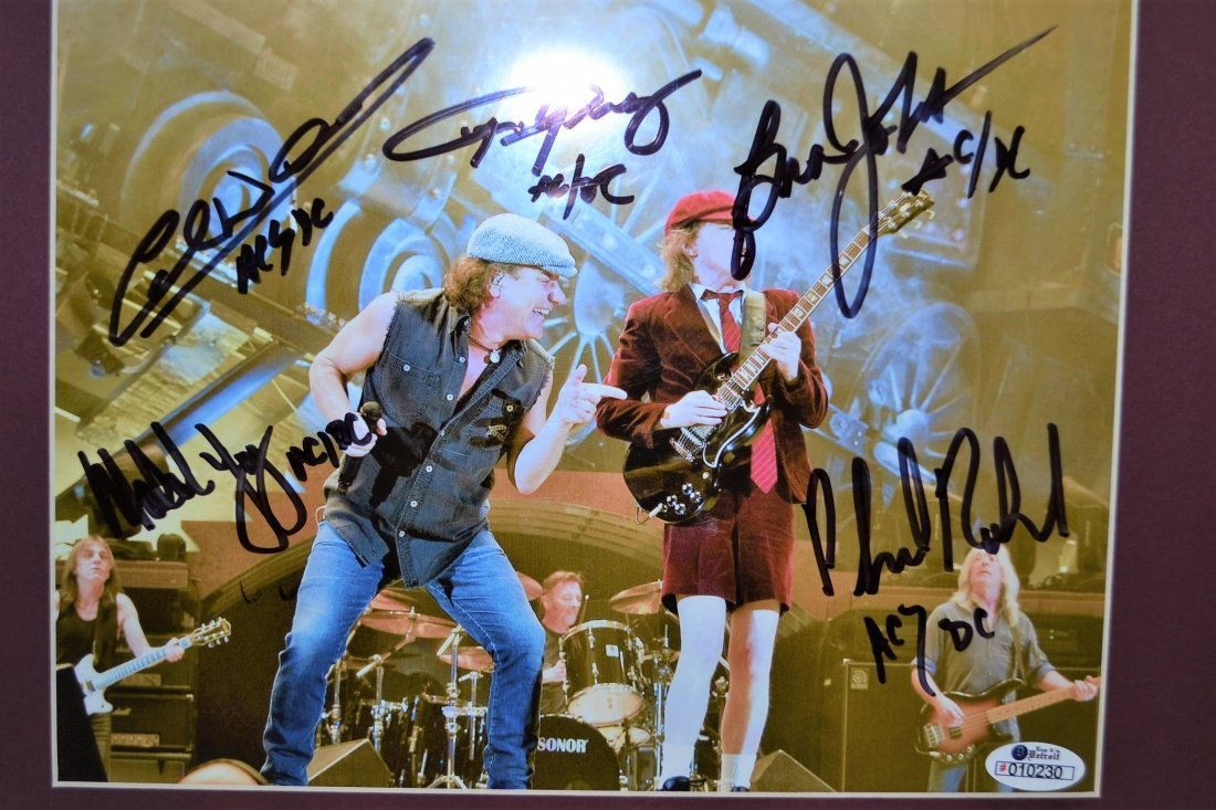AC/DC Autograph Photo . AC/DC sign Photo. Rock and Roll