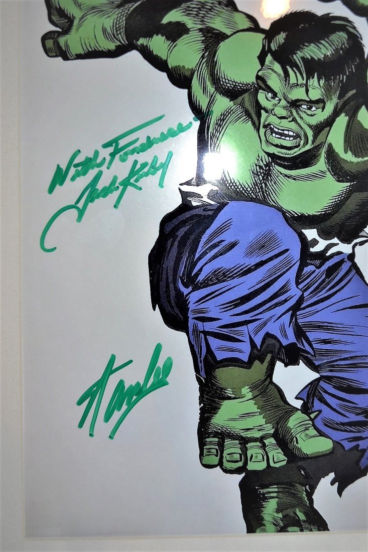 The Hulk Cel Sign by Stan Lee and Jack Kirby. Marvel ce