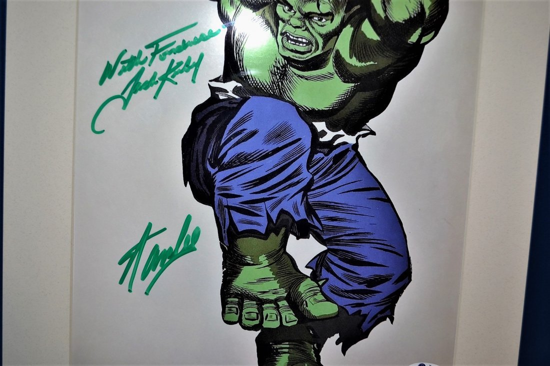 The Hulk Cel Sign by Stan Lee and Jack Kirby. Marvel ce - 2