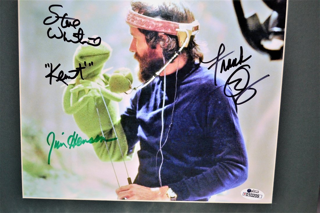 Jim Henson Autograph Muppets Cel. Kermit Autograph Cel.