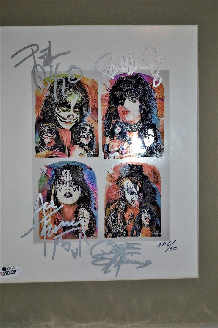 Kiss Autograph Photo. Kiss Sign Art work. Kiss Art Sign
