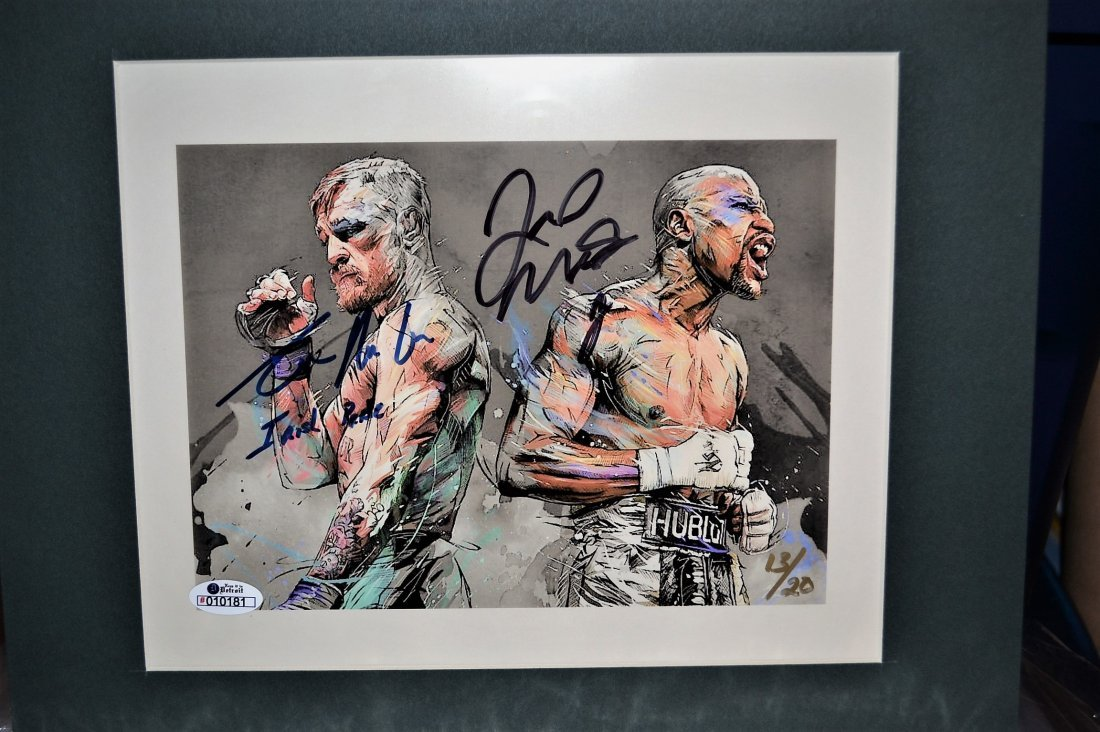Conor Mcgregor and Floyd Mayweather Autograph Photo.