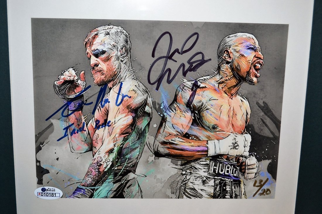 Conor Mcgregor and Floyd Mayweather Autograph Photo. - 2