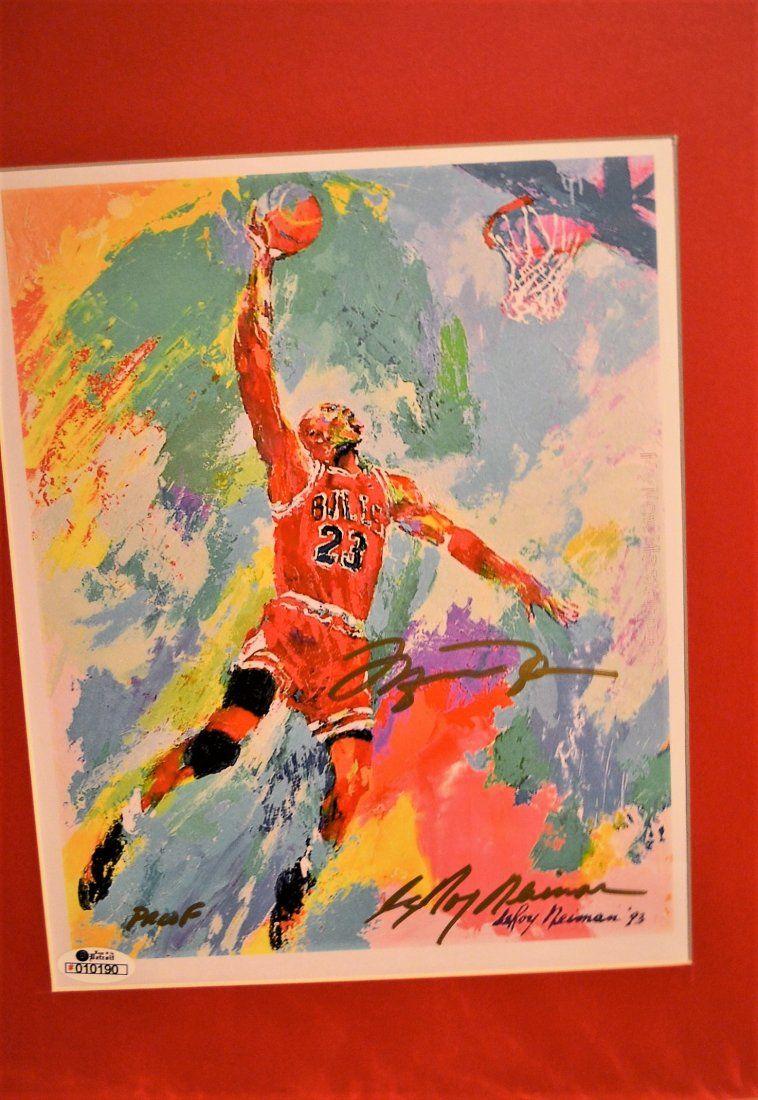 Michael Jordan Autograph Leroy Neiman Print, Michael