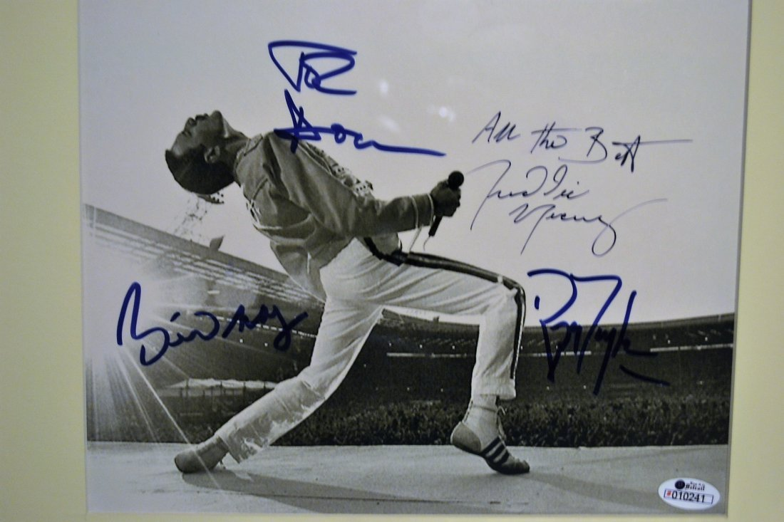 Queen Autograph Photo, Freddie Mercury Sign Photo,