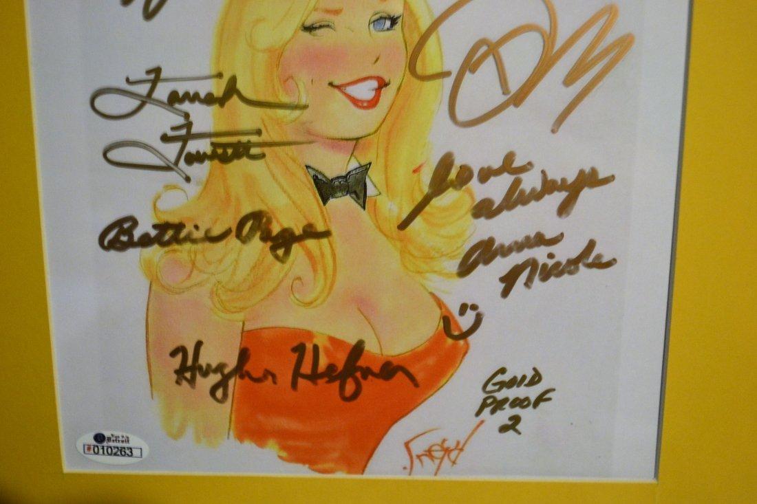 Playboy Bunny Autograph Art. Hugh Hefner Autograph Play - 2