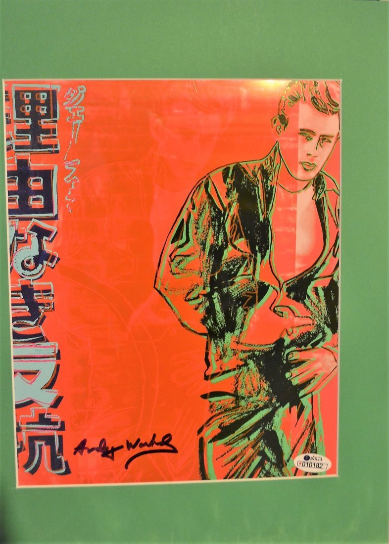 Andy Warhol Sign James Dean Print, Andy Warhol Auto art