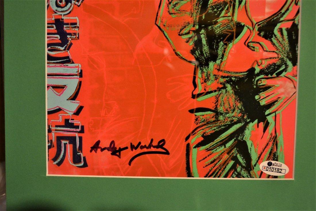 Andy Warhol Sign James Dean Print, Andy Warhol Auto art - 2
