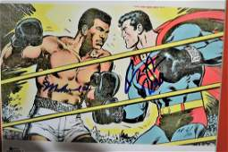 Muhammad Ali and Christopher Reeve Autograph Superman