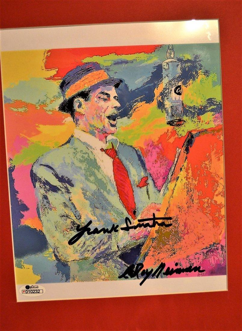 Frank Sinatra Autograph Leroy Neiman Print,Sign Sinatra