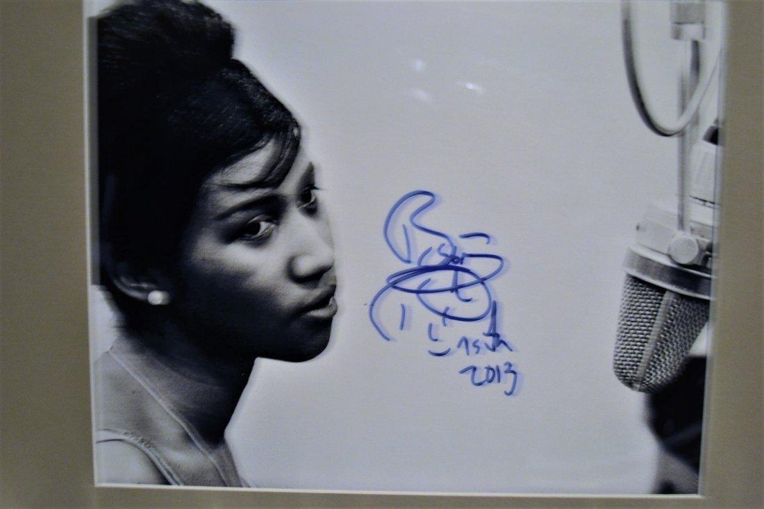 Aretha Franklin Autograph Photo, Aretha Franklin Sign