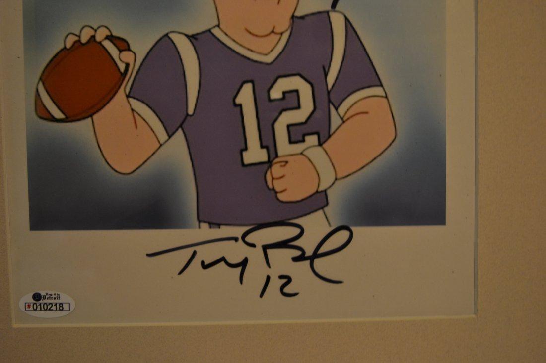 Tom Brady Family Guy Animation Cell. Tom Brady Sign - 2