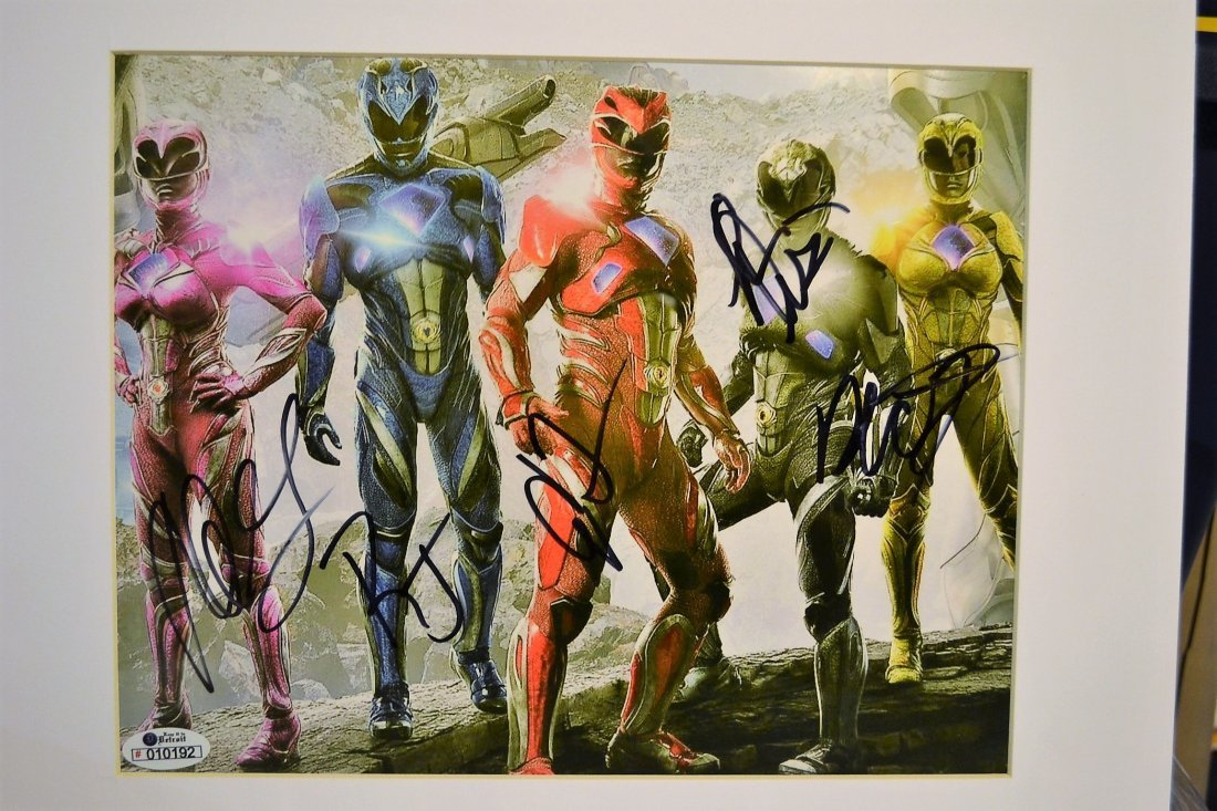 Power Rangers Autograph Photo. Power Rangers Sign Photo