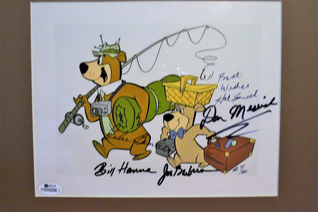 Yogi Bear Autograph Cell, Hanna and Barbera Cell