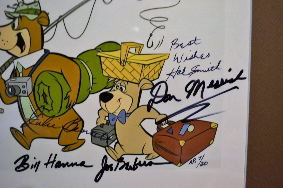 Yogi Bear Autograph Cell, Hanna and Barbera Cell - 2