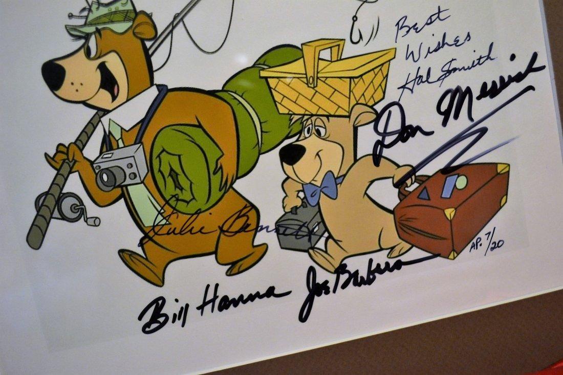 Yogi Bear Autograph Cell, Hanna and Barbera Cell - 3