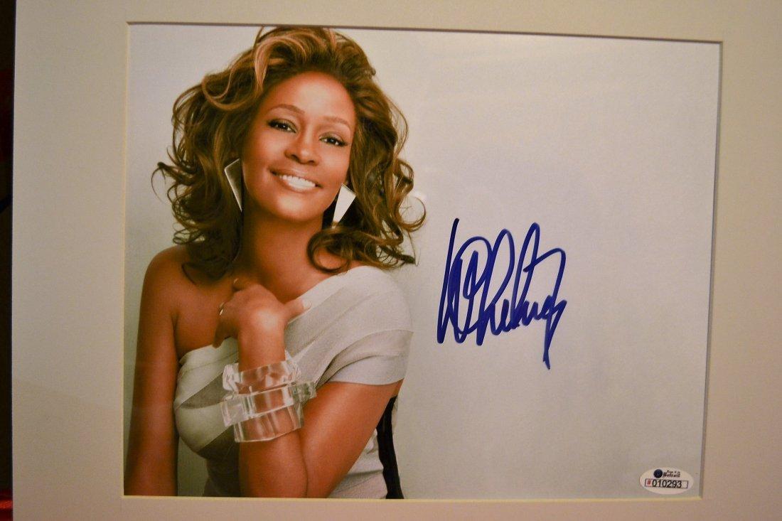 Whitney Houston Autograph, Whitney Houston Sign Photo