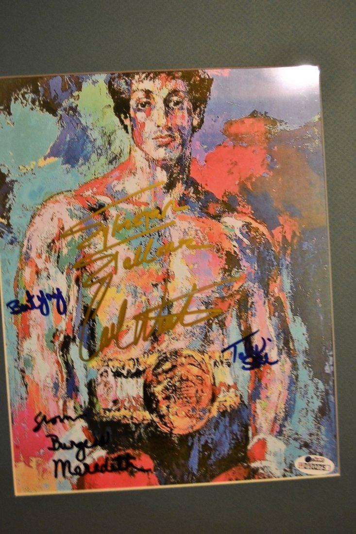 Rocky Autograph Leroy neiman, Rocky Sign Print