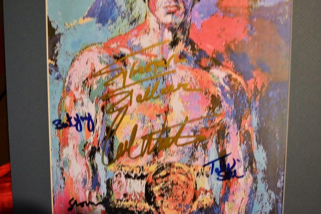 Rocky Autograph Leroy neiman, Rocky Sign Print - 3
