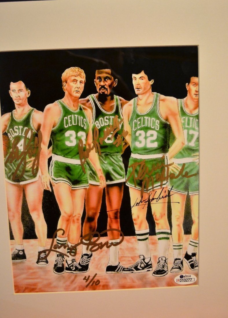Boston Celtic Greats Autograph, Celtic greats Sign