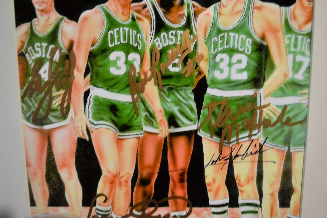 Boston Celtic Greats Autograph, Celtic greats Sign - 2