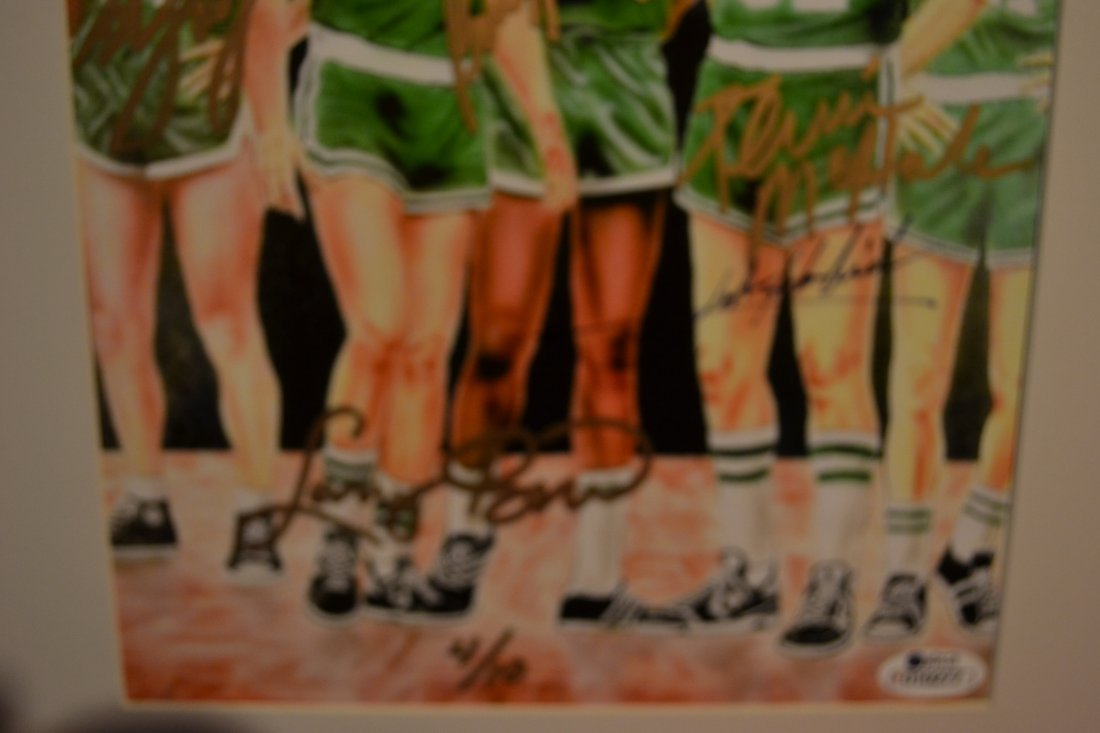 Boston Celtic Greats Autograph, Celtic greats Sign - 3
