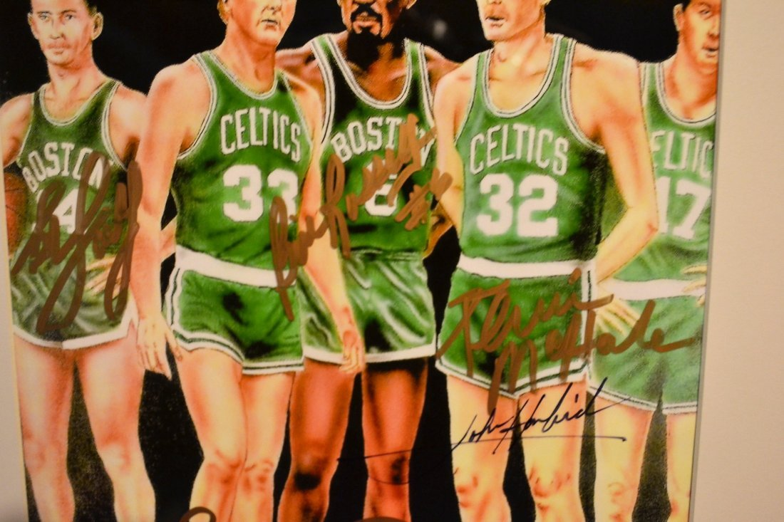 Boston Celtic Greats Autograph, Celtic greats Sign - 4