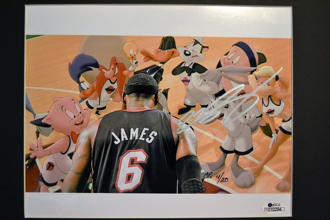 Lebron James Autograph Cell, Lebron James Sign Cell