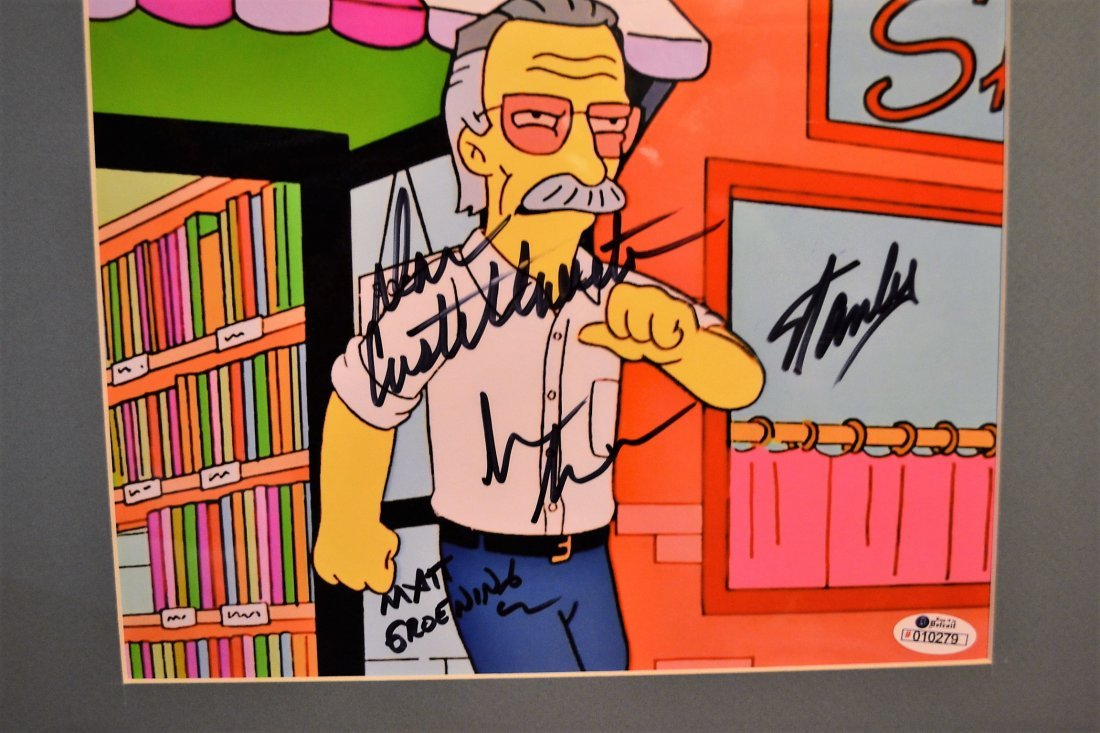 Simpsons Stan Lee Autograph, Stan Lee Marvel
