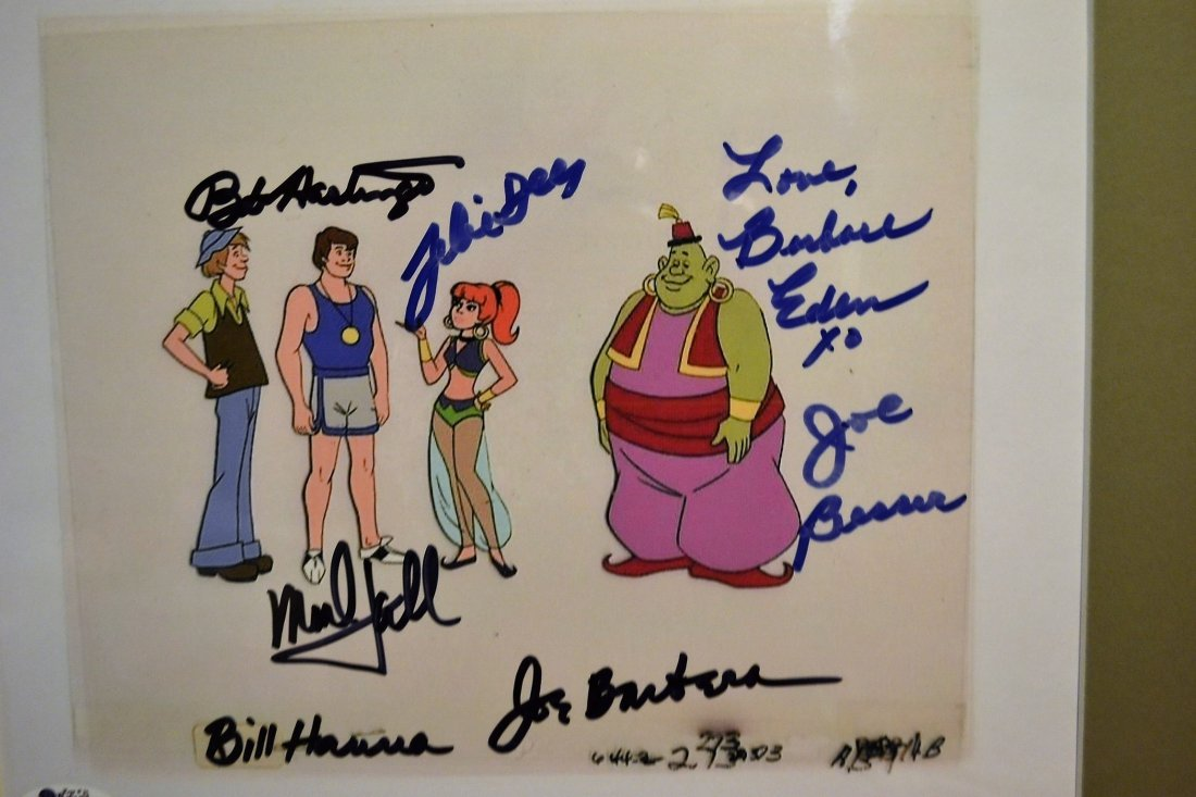 Jeanie Animation Cell, Hanna and Barbera Sign Cell - 2