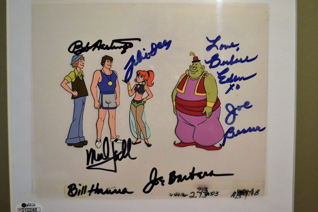 Jeanie Animation Cell, Hanna and Barbera Sign Cell - 3