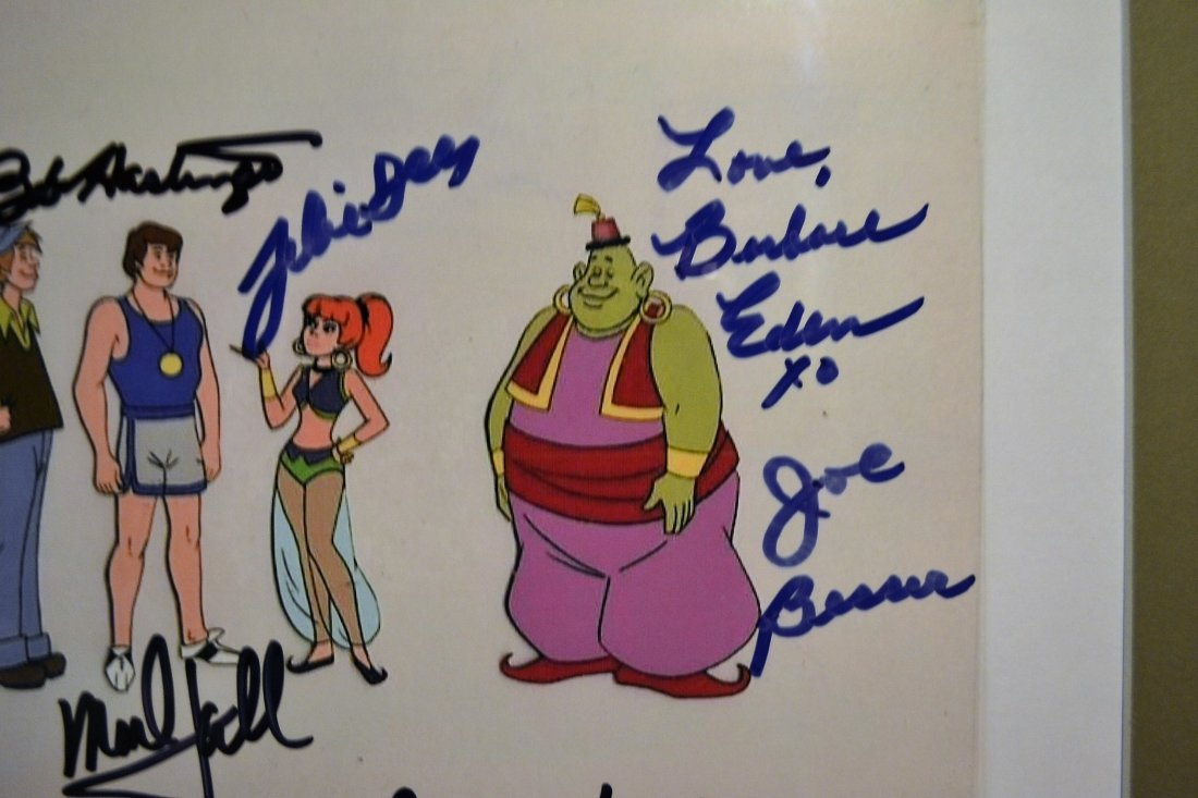 Jeanie Animation Cell, Hanna and Barbera Sign Cell - 4