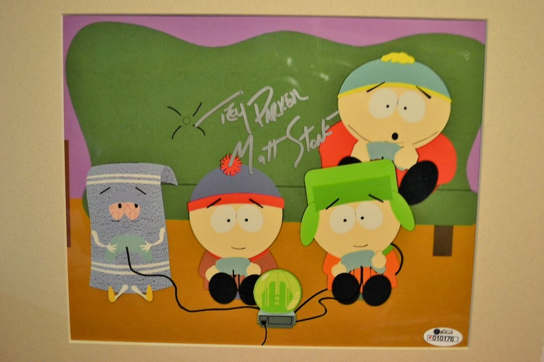 South Park Animation Cell , South Park Sign Cell